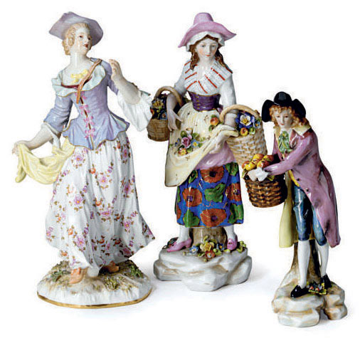 A GERMAN PORCELAIN MODEL OF CO