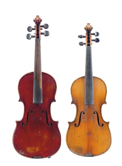 TWO CHILD'S VIOLINS