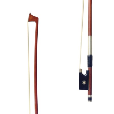 A SILVER-MOUNTED VIOLIN BOW