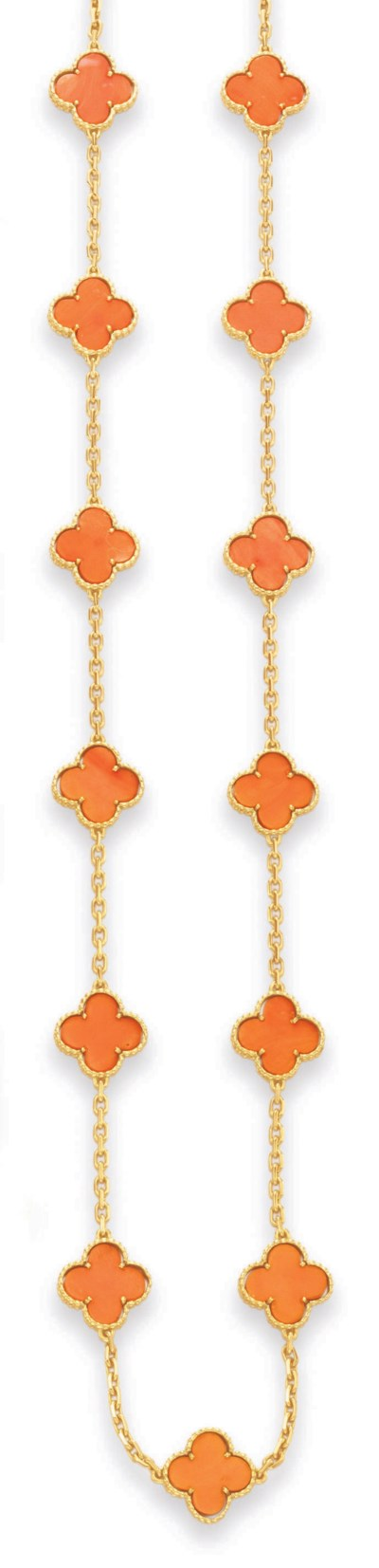 ~A CORAL AND GOLD
