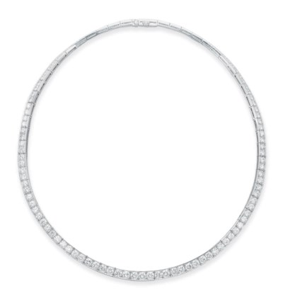 A DIAMOND LINE NECKLACE, BY VA