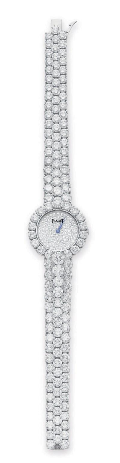 A DIAMOND WRISTWATCH, BY PIAGE