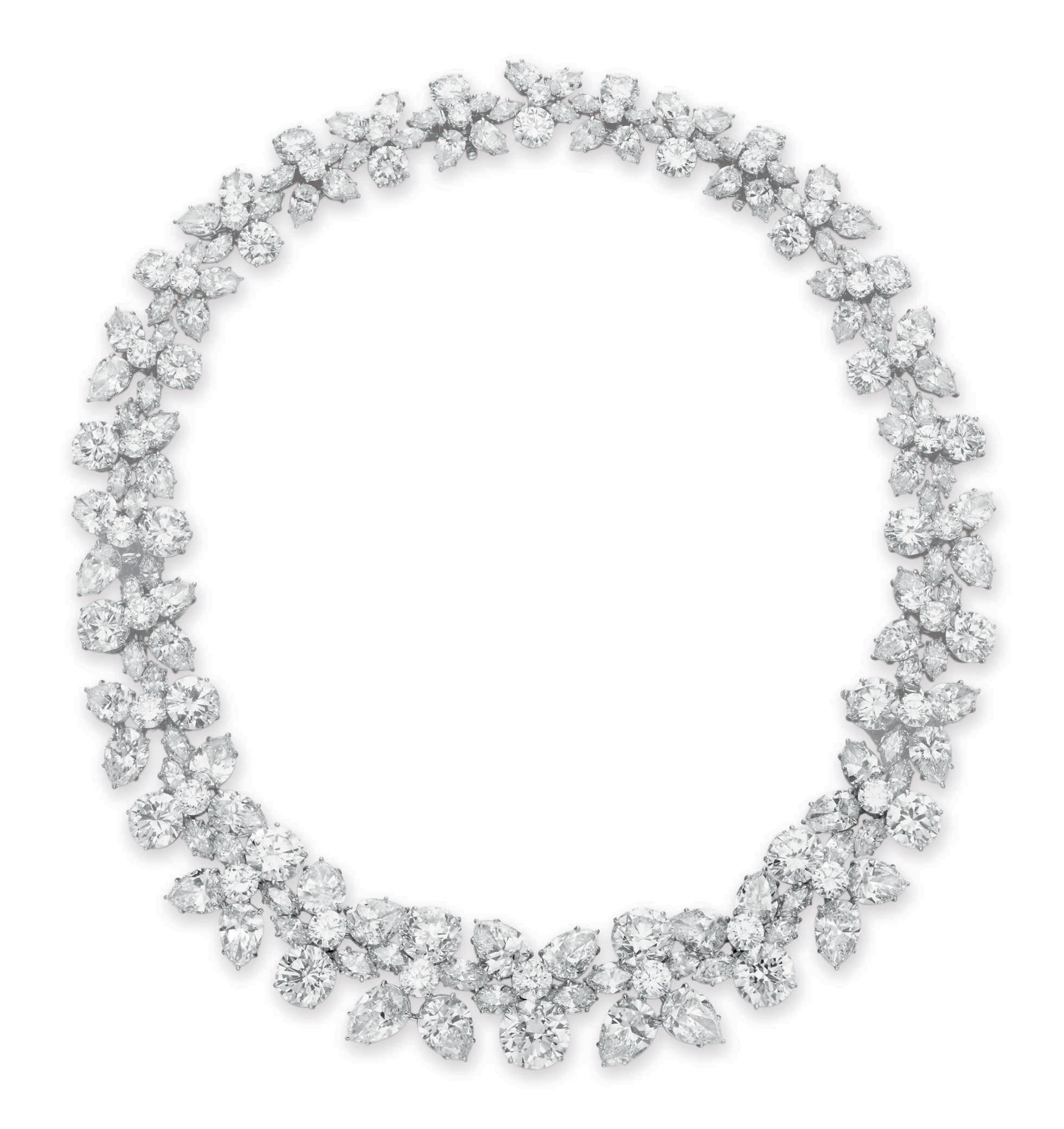 A diamond holly wreath necklace by harry winston jewelry a diamond aloadofball Images