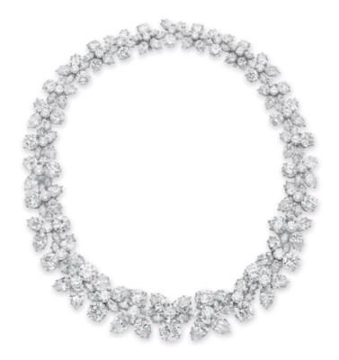A diamond holly wreath necklace by harry winston christies a diamond aloadofball Images