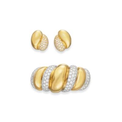 A SET OF RETRO DIAMOND AND GOL