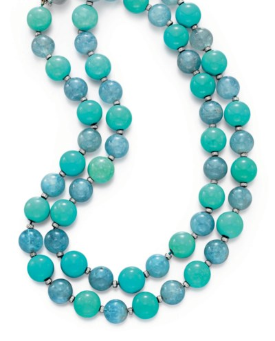 AN AQUAMARINE AND TURQUOISE BE