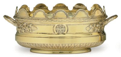 A FRENCH SILVER-GILT VERRIERE