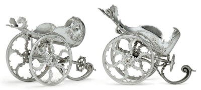 A PAIR OF CONTINENTAL SILVER-P