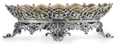 A FRENCH SILVER-PLATED CENTERP