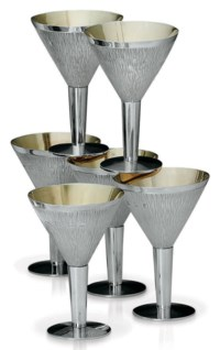 A SET OF SIX ELIZABETH II SILVER GOBLETS