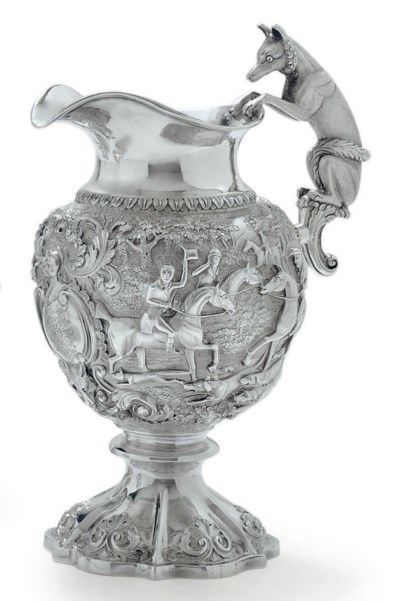 A WILLIAM IV SILVER WINE JUG