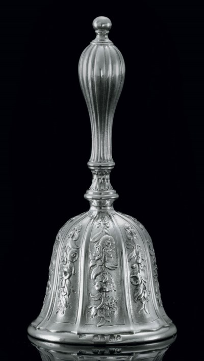 A GEORGE IV SILVER TABLE BELL