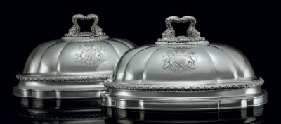 A PAIR OF GEORGE IV SILVER ROY
