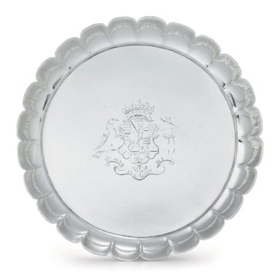 A GEORGE II SILVER FLUTED DISH