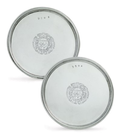 A PAIR OF QUEEN ANNE SILVER TA