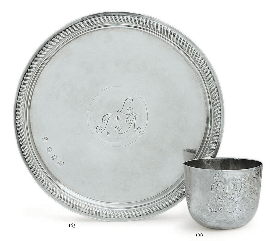 A WILLIAM III SILVER TAZZA