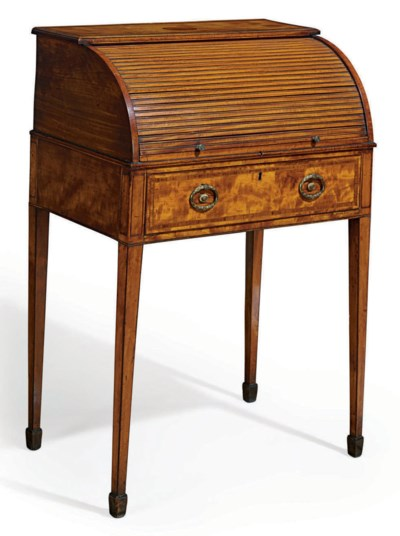 A LATE GEORGE III SATINWOOD AN
