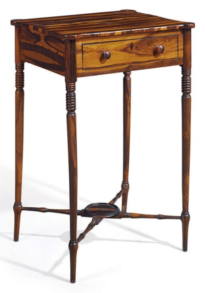 A REGENCY COCUSWOOD WORK TABLE