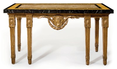 A GEORGE III GILTWOOD SIDE TAB
