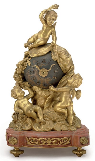 A FRENCH ORMOLU, PATINATED BRO