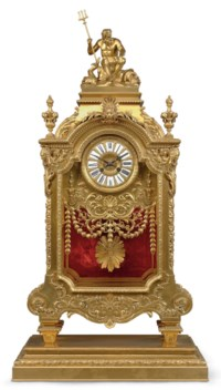 A LARGE FRENCH ORMOLU MANTEL CLOCK