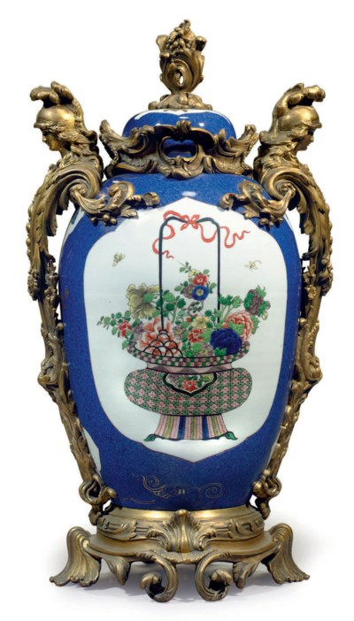 A FRENCH ORMOLU-MOUNTED SAMSON