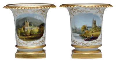 A PAIR OF MINIATURE WORCESTER