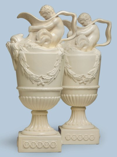 A LARGE PAIR OF WEDGWOOD STYLE