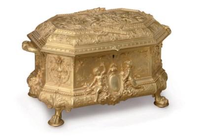 A FRENCH ORMOLU TABLE CASKET