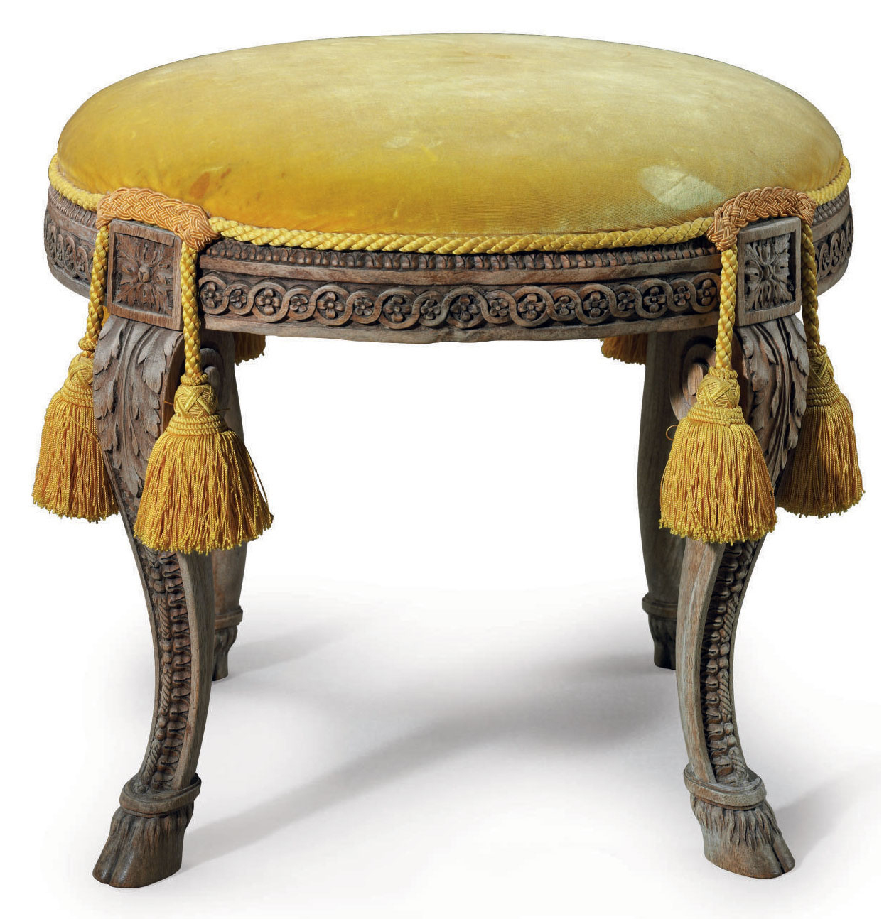 A LOUIS XVI WALNUT TABOURET