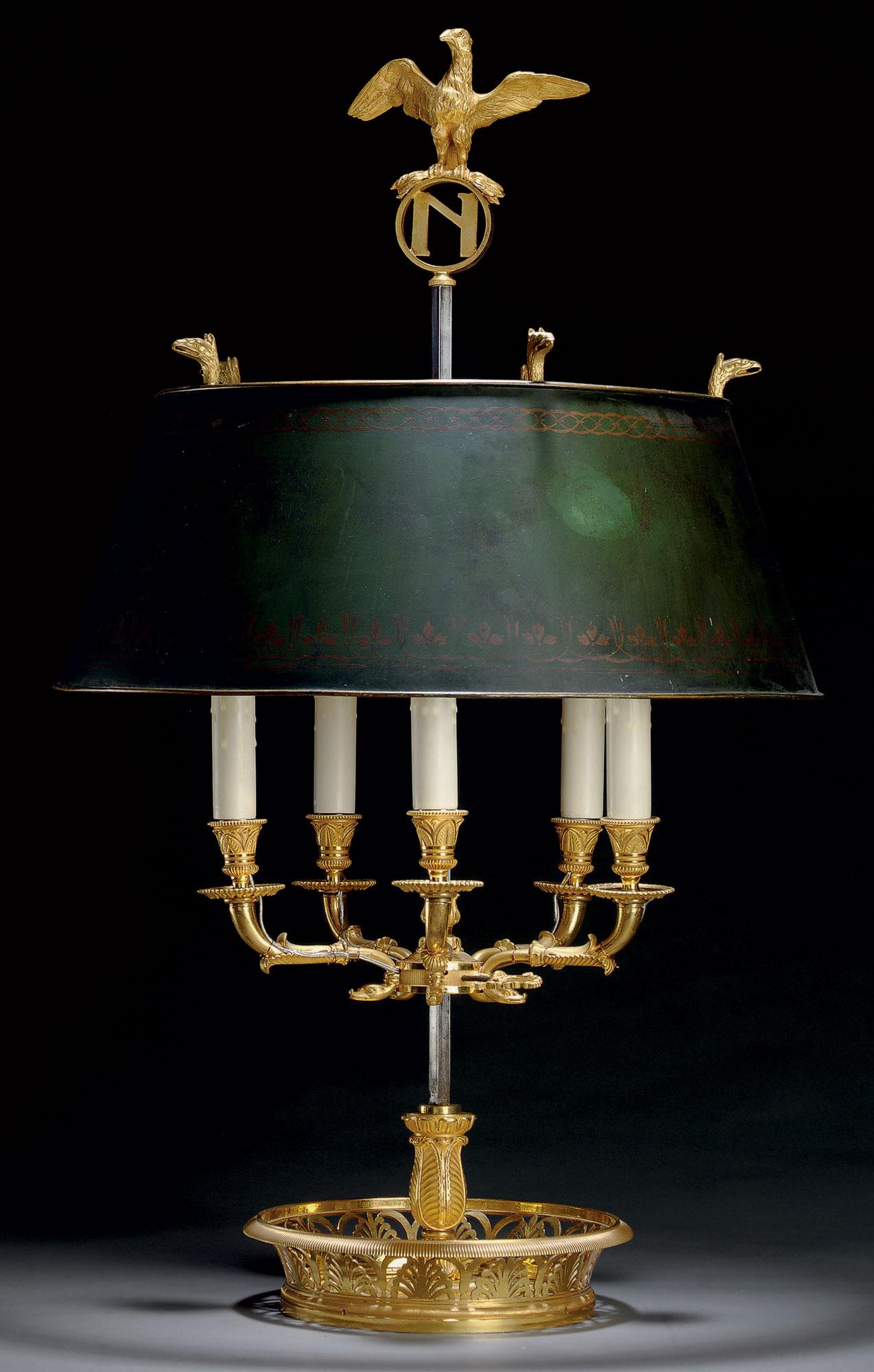 An Empire Ormolu Bouillotte Lamp Early 19th Century