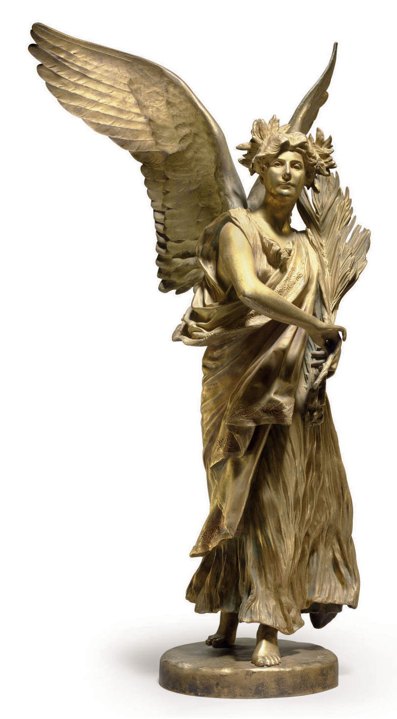 A FRENCH GILT-BRONZE MODEL OF VICTORY,