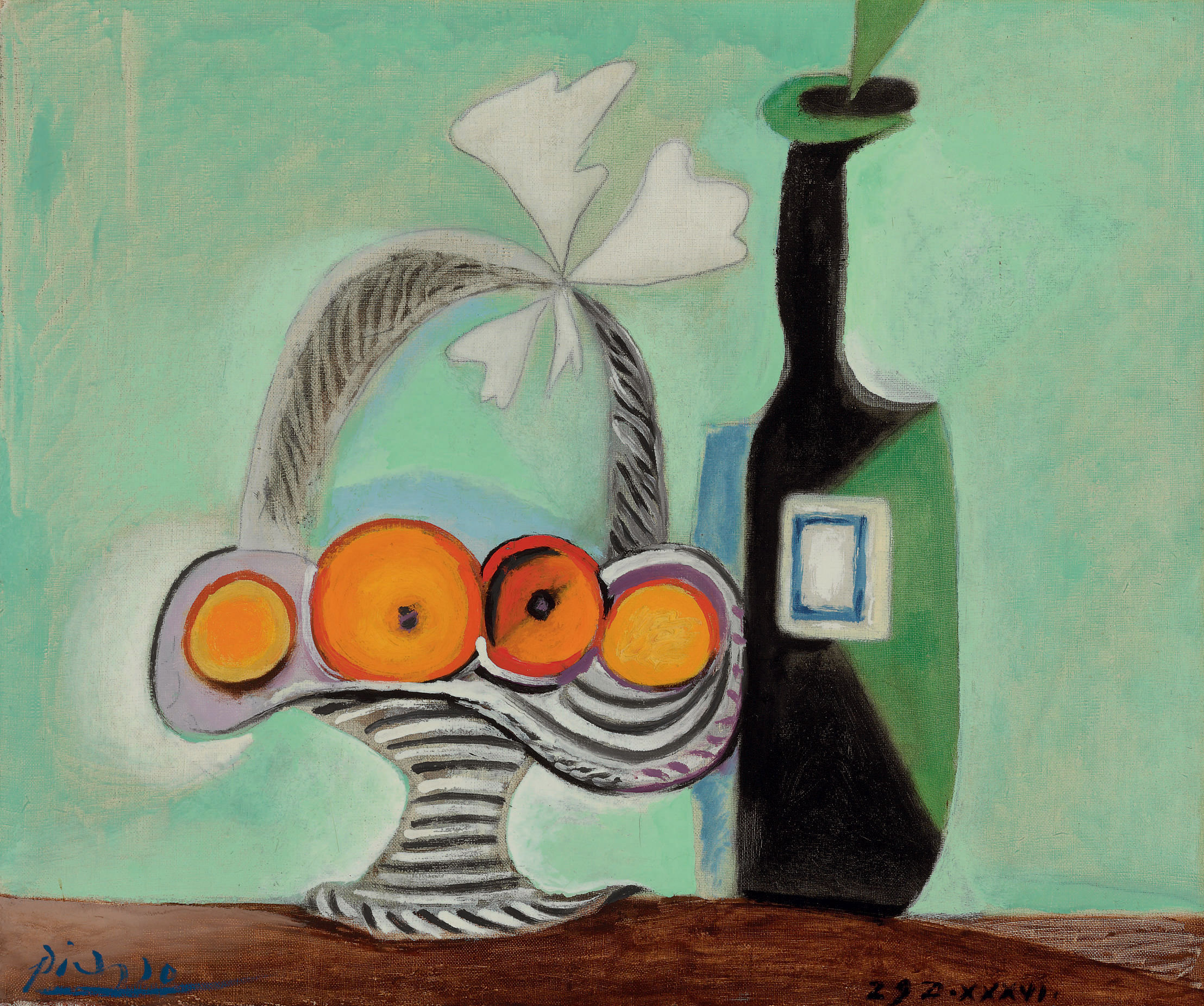 Pablo Picasso (1881-1973) | Nature morte. Corbeille de fruits et ...