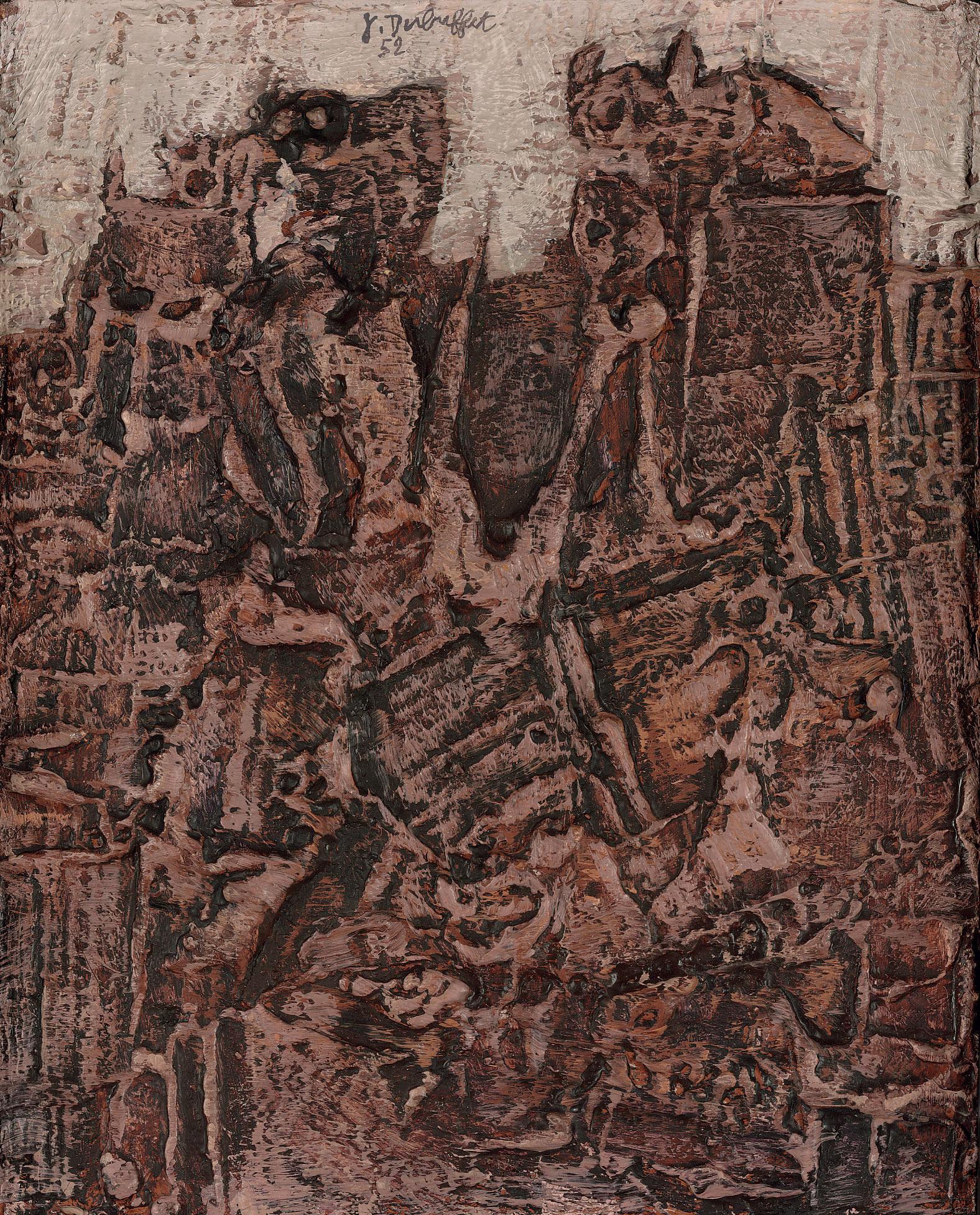 Jean Dubuffet 1901 1985 Chat Perchie 1950s Paintings Christies Delfit Lot 309