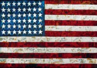 Flag, After Jasper Johns (Pictures of Pigment)
