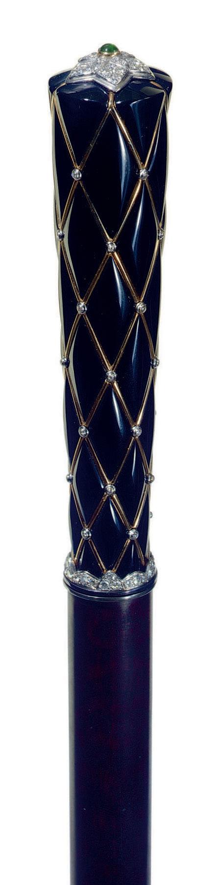 A FRENCH DIAMOND-MOUNTED BLACK