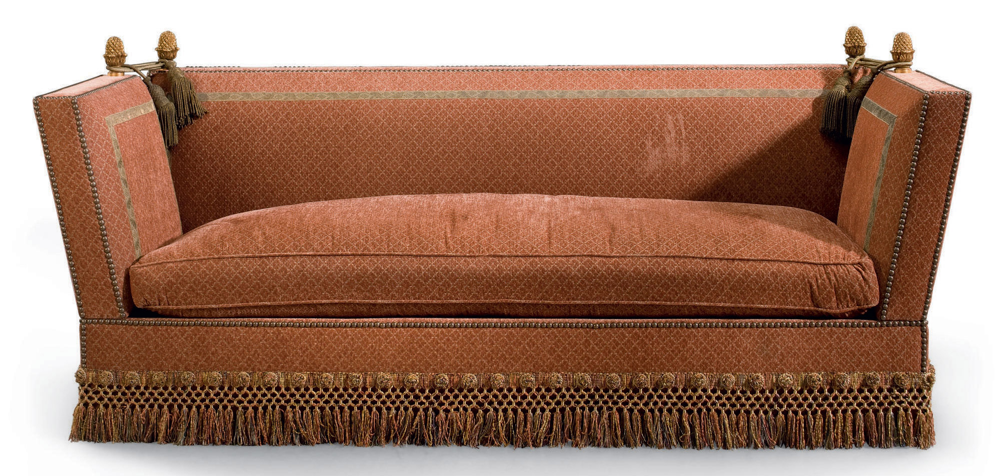 A UPHOLSTERED 'KNOLE' SOFA