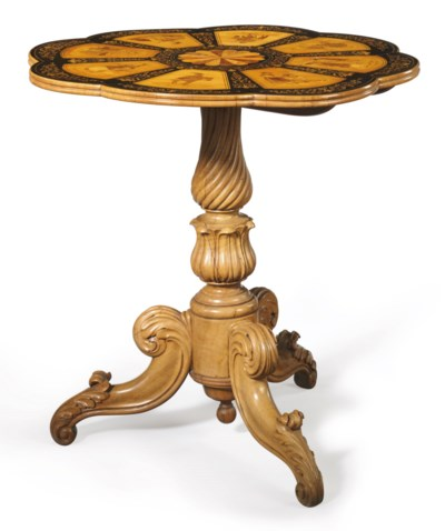 AN ITALIAN STAINED FRUITWOOD,