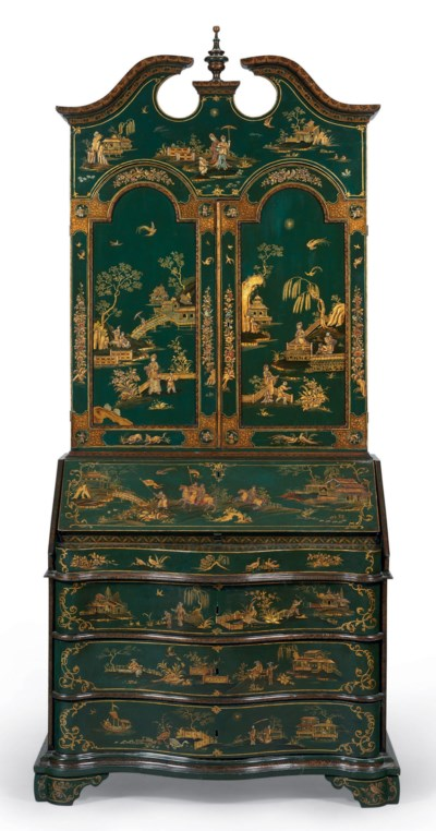 A NORTH ITALIAN GREEN AND GILT