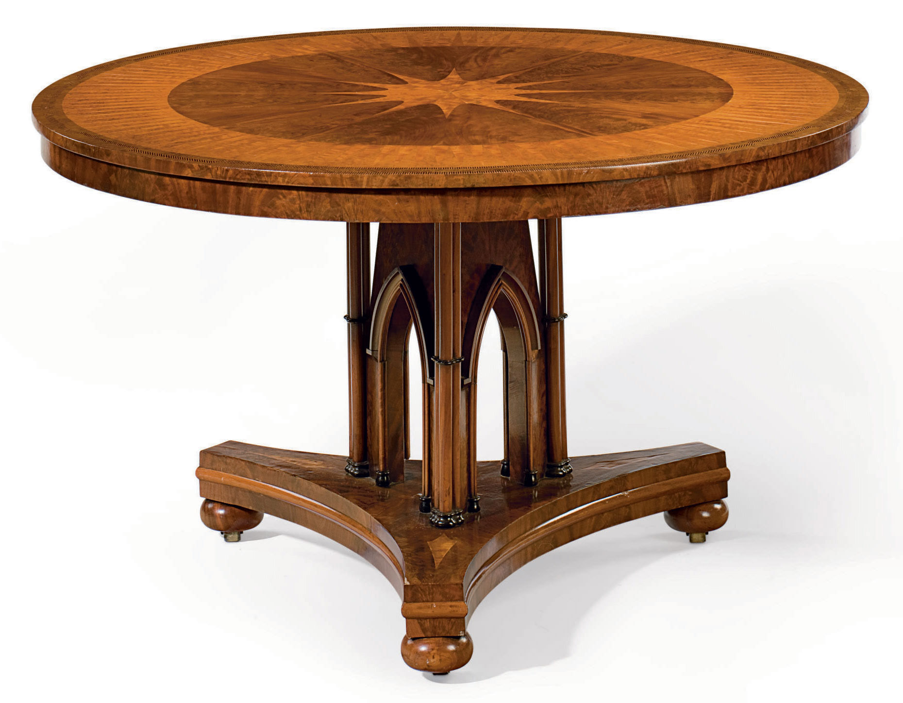 A REGENCY MAHOGANY, SATINWOOD,