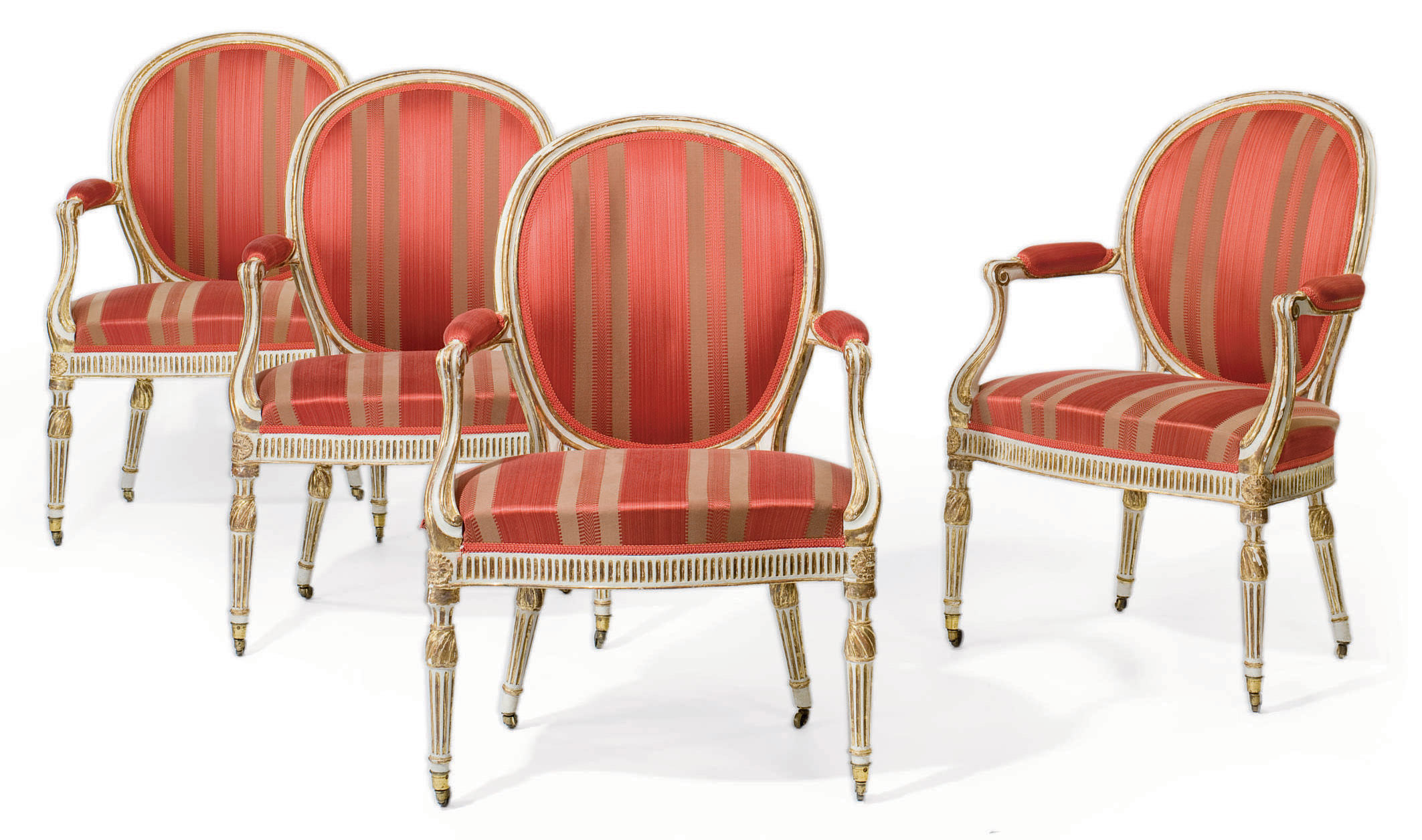 A SET OF FOUR GEORGE III WHITE