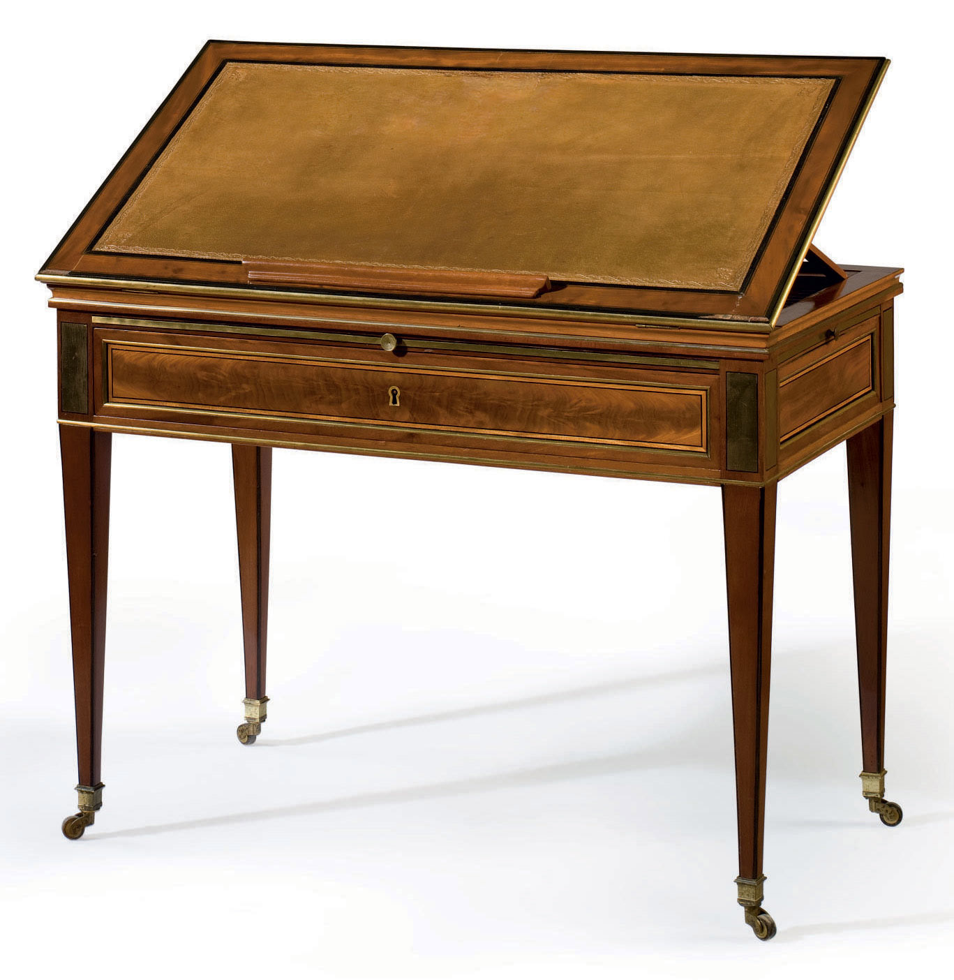 A DIRECTOIRE BRASS-INLAID MAHO