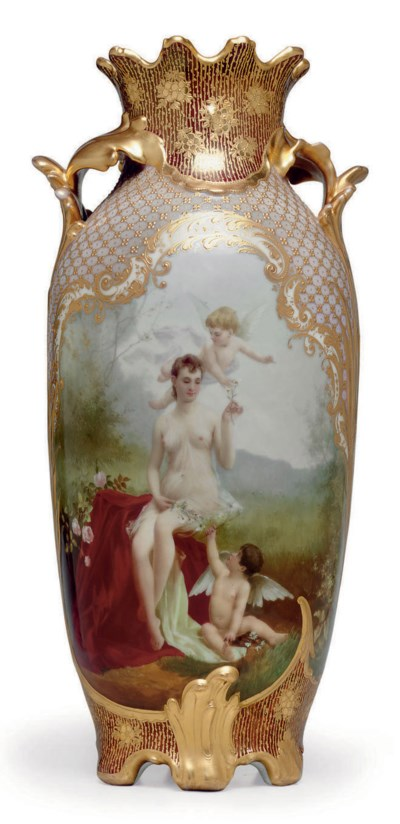 A VIENNA STYLE PORCELAIN PINK