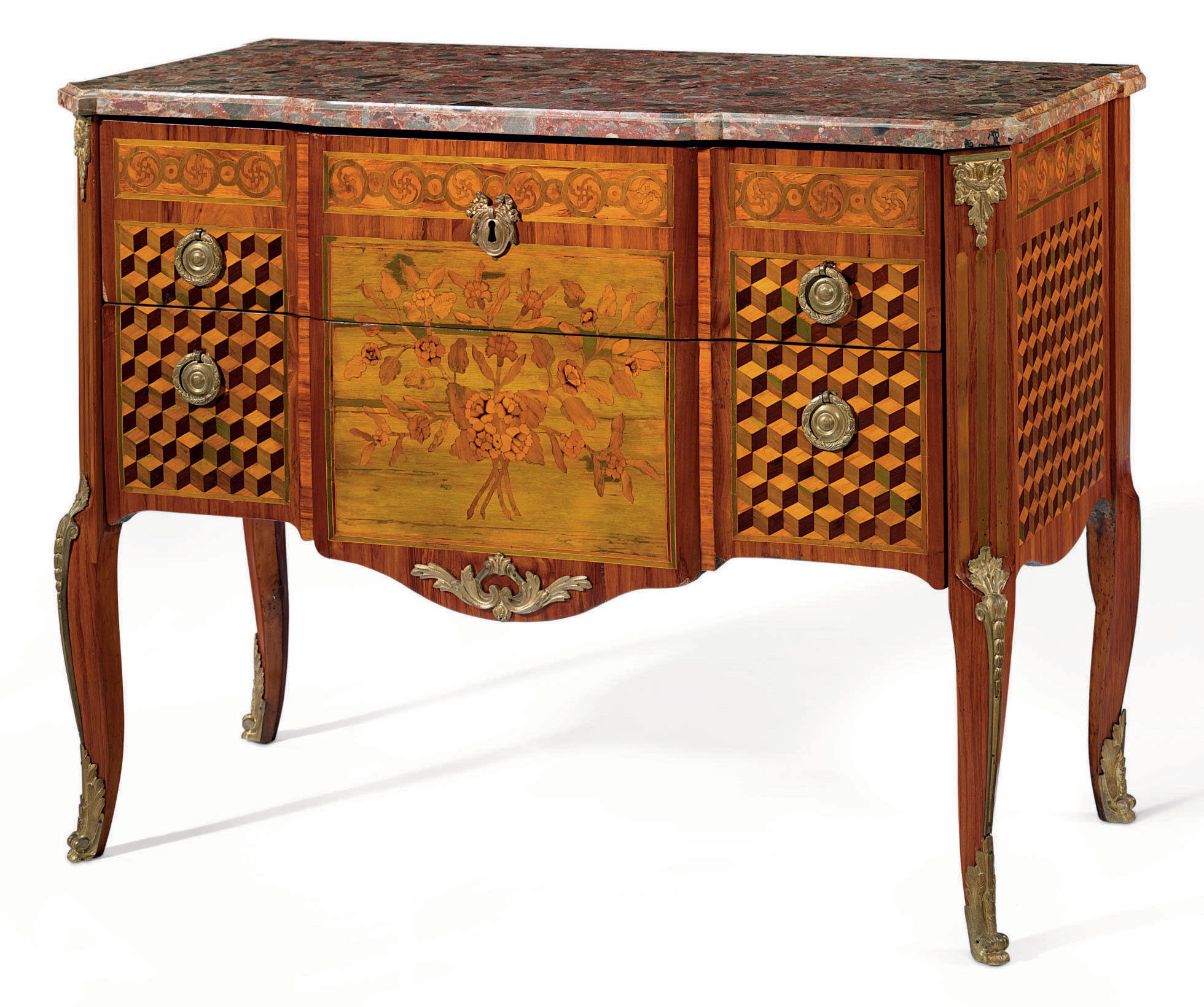 A LATE LOUIS XV KINGWOOD AND P
