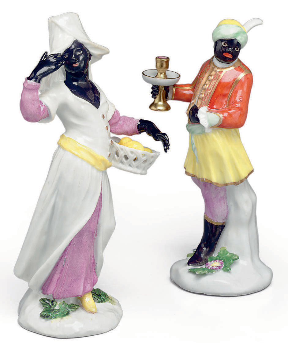 TWO MEISSEN PORCELAIN FIGURES