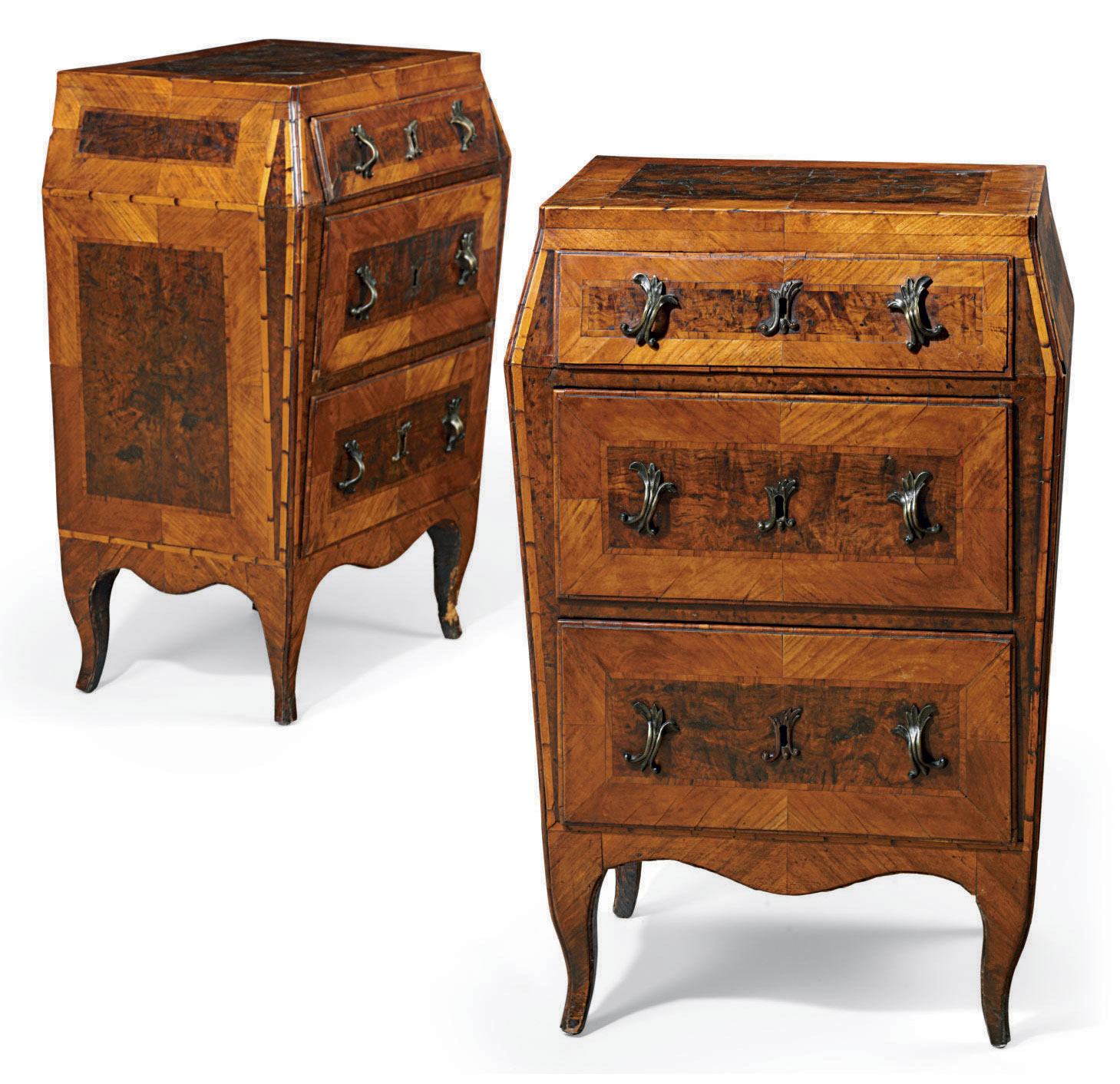 A PAIR OF NORTH ITALIAN INLAID