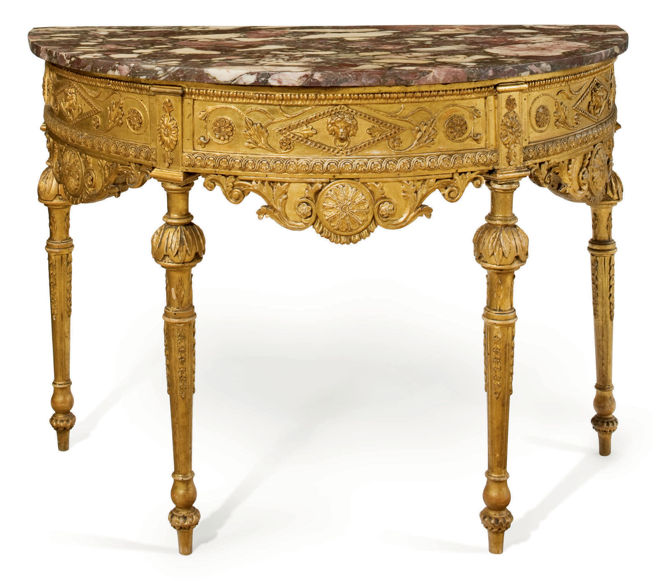 A NORTH ITALIAN GILTWOOD SIDE