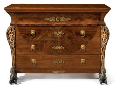 A SPANISH MAHOGANY AND PARCEL-