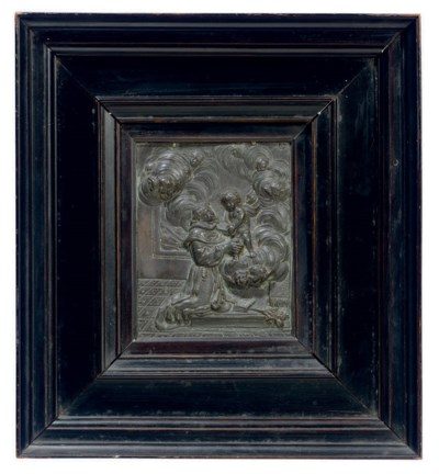 A BRONZE RELIEF OF THE VISION
