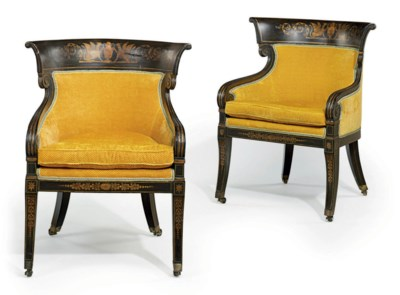 A MATCHED PAIR OF REGENCY ROSE